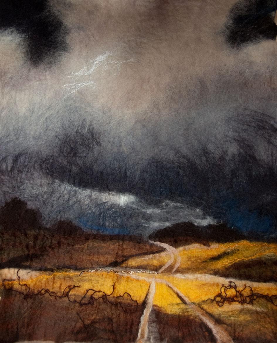 Kathie Barrs – Kathie Barrs -Gathering Storm- 55cm x 70cm