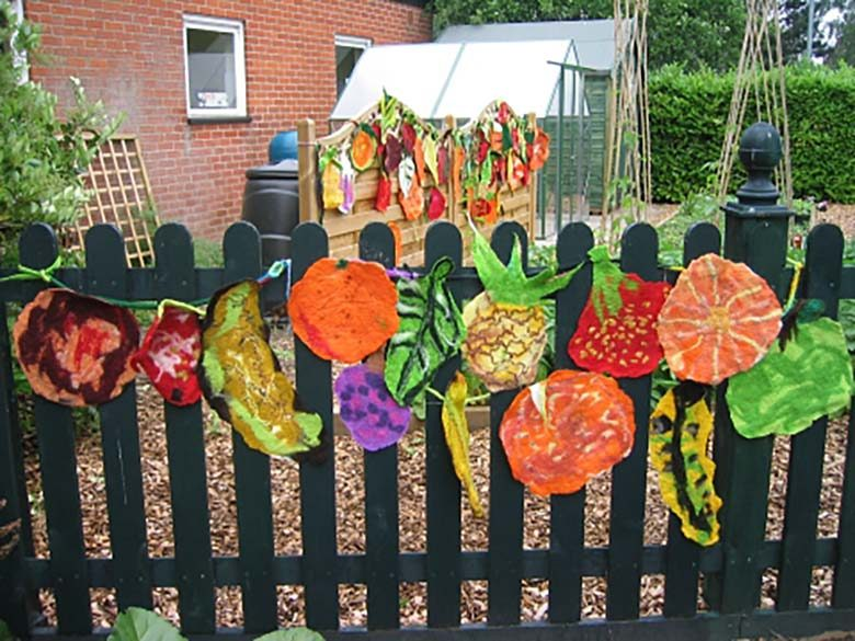Felt in the Vegetable Garden