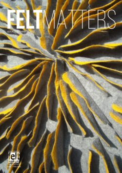Felt Matters issue 126 June 2017 front cover - the Magazine of the International Feltmakers Association