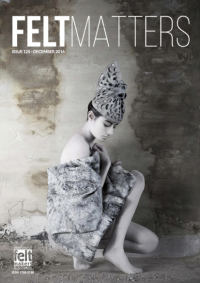 Felt Matters issue 125 Dec 2016 front cover - the Magazine of the International Feltmakers Association