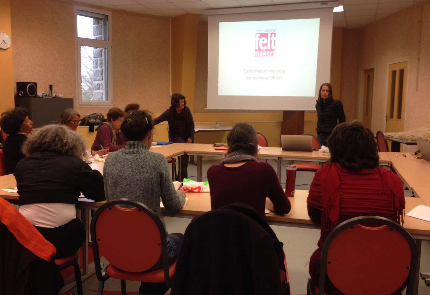 Meeting in Felletin
