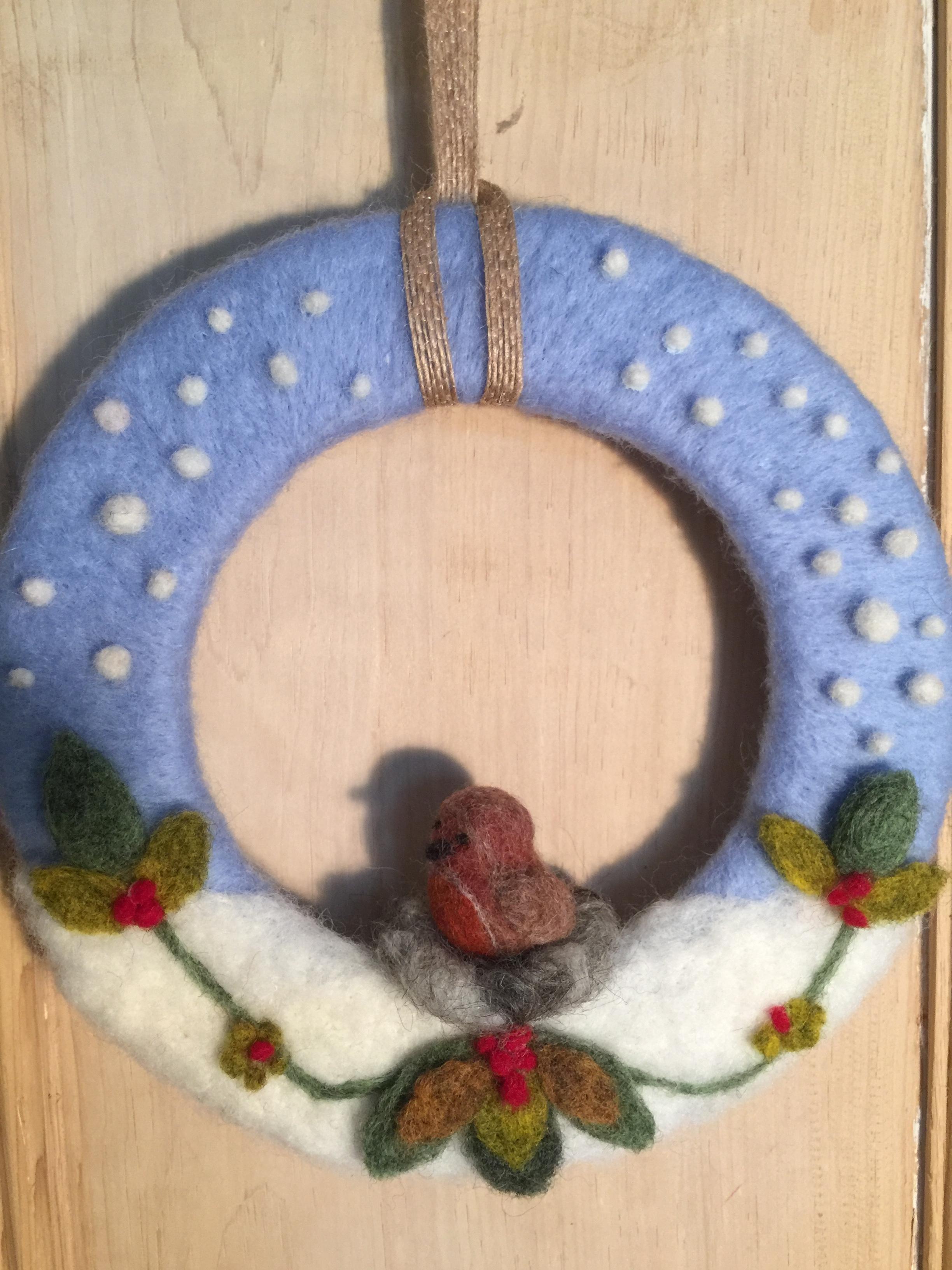 Needle Felted Christmas Wreath Workshop International Feltmakers Association
