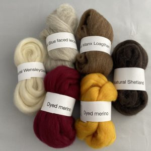 "Fibre pack for ""Discovering Felt"" course"