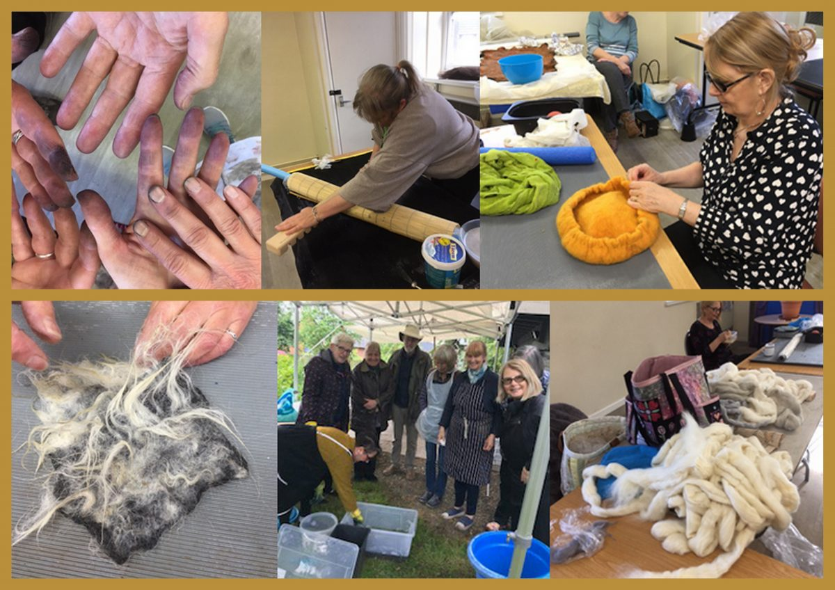 Attend workshops with the International Feltmakers Association