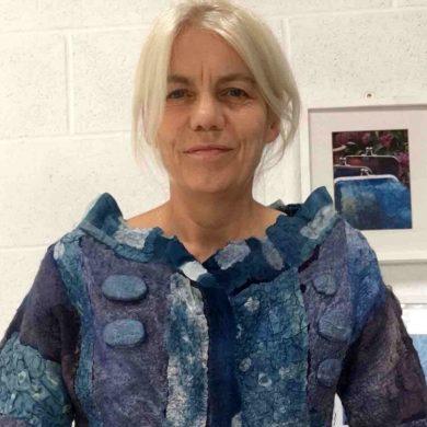 Vivienne Morpeth member of the International Feltmakers Association Education Team