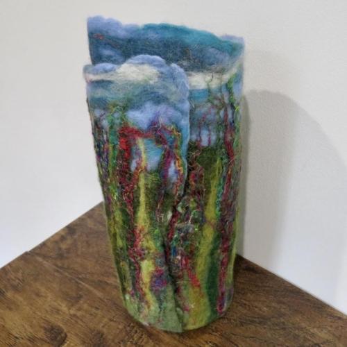 Summer Spires Felt Vase Wrap (back)