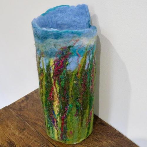 Summer Spires Felt Vase Wrap (front)
