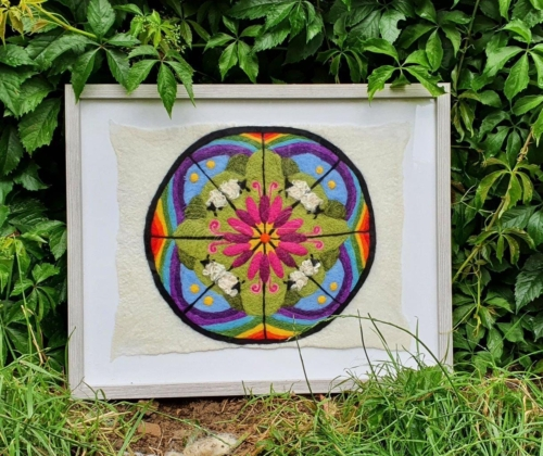 2D Farm Kaleidoscope (framed)
