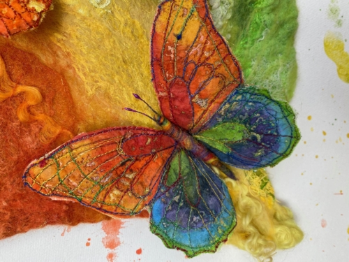 Rainbows and Butterflies (detail)